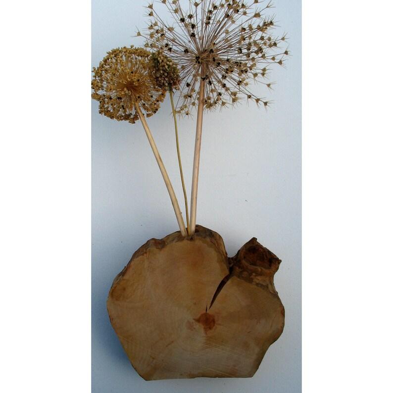 Vase 25cm Birnbaumholz image 0