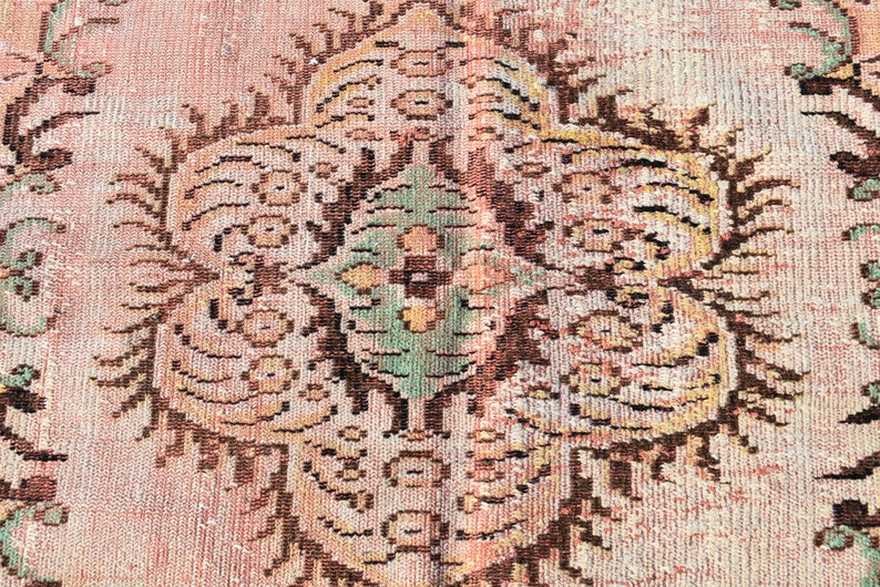 Area rug 5.1 x 7.9 Ft  Cod5225 Handmade rug Boho decor Carpet Orange rug Rug Oriental rug Bohemian rug Vintage rug Turkish rug