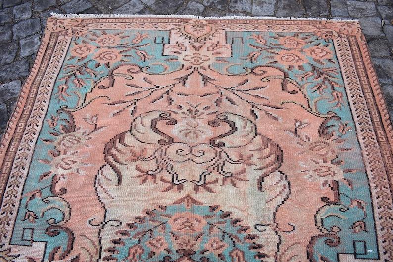Bedroom Rug Turkish Rug Pale Color Rug Organic Wool Rug Cod5209 Vintage Area Rug Aztec Rug rustic decor 5.4 x 8.3 Ft Oriental Rug