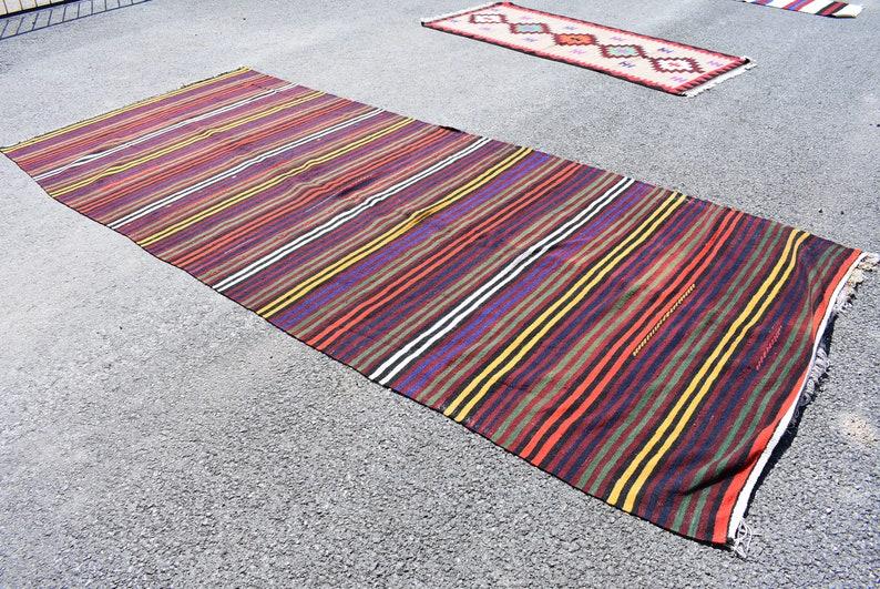 turkish boho kilim runner bohemian kilim runner large kilim rug vintage kilim rug 5.5 x 13.0 ft rustic decor handwoven kilim runner Cod3748