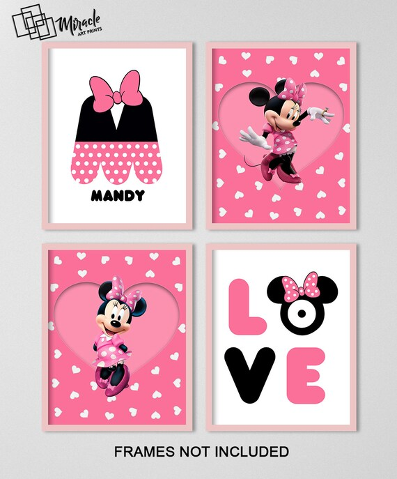 Wall art Minnie Mouse, Minnie Mouse room decor, Minnie Mouse print, Minnie  Mouse poster, Minnie mouse wall art, Minnie Mouse bedroom decor