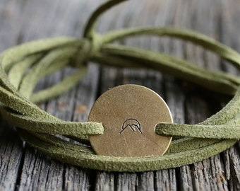 Mountain wrap bracelet, wanderlust jewelry, mountain jewelry, mountain bracelet, wanderlust bracelet, hiking gift, nature jewelry, nature gi