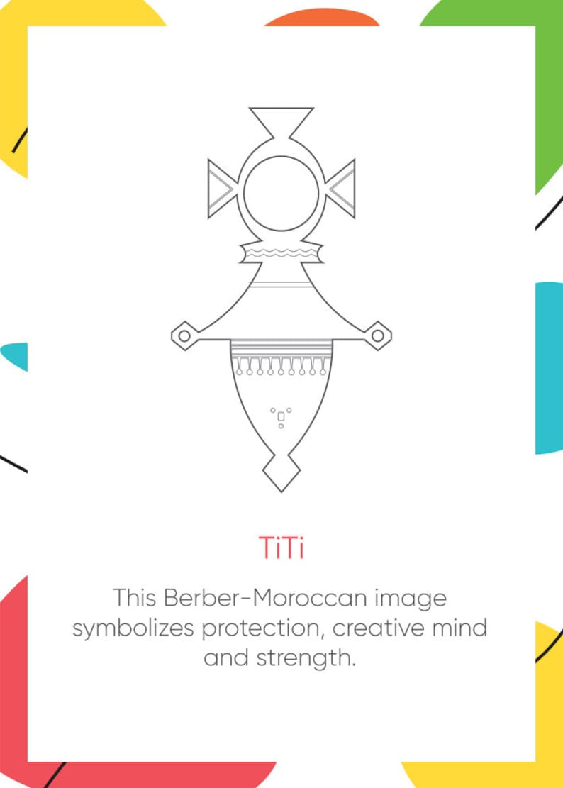 Amulet Handcrafted Charm TiTi Berber Moroccan Big Pendant Spiritual Jewelry Unique Necklace Berber Moroccan modern Style Two side