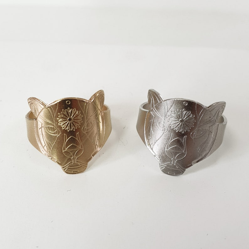 Resizable Handmade Ring Valentine/'s Day Gifts Jaguar Ring him and her Ring Silver or Gold Plated  Ring 2 Jaguar  rings