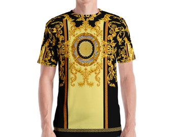 dd8ce95b Gold baroque pattern Men's T-shirt