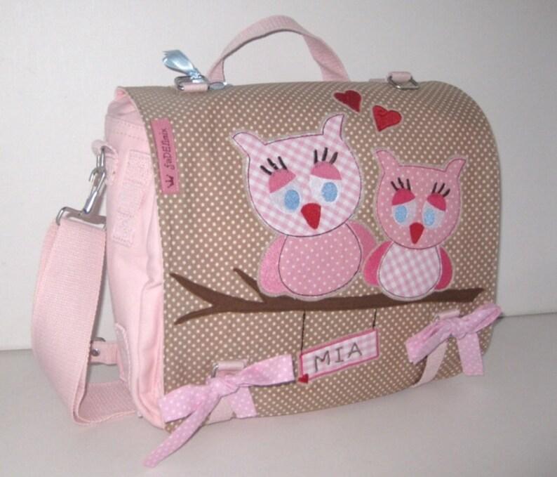 bc87d2ac4dbce Eulen Tasche beige rosa Wickeltasche Uni Tasche