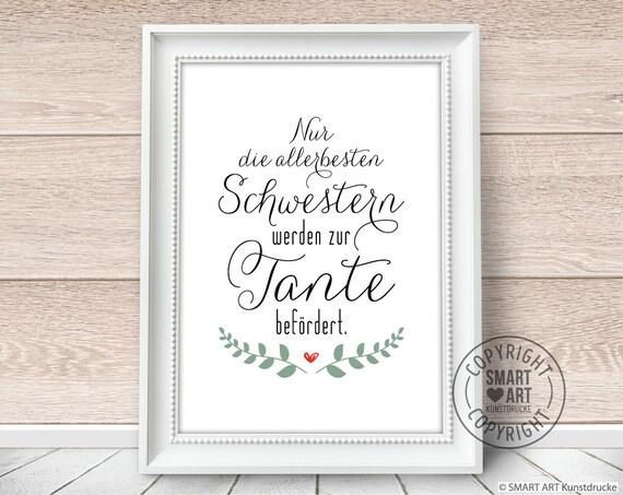 Beste Tante Smart Art Kunstdrucke Poster Deko Bild Geschenk Familie Wandbild Deko Schwester Freundin