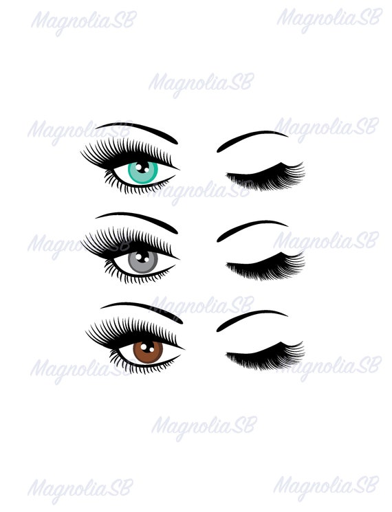 Winking Eyelashes Digital Download Winking Eye With Lashes