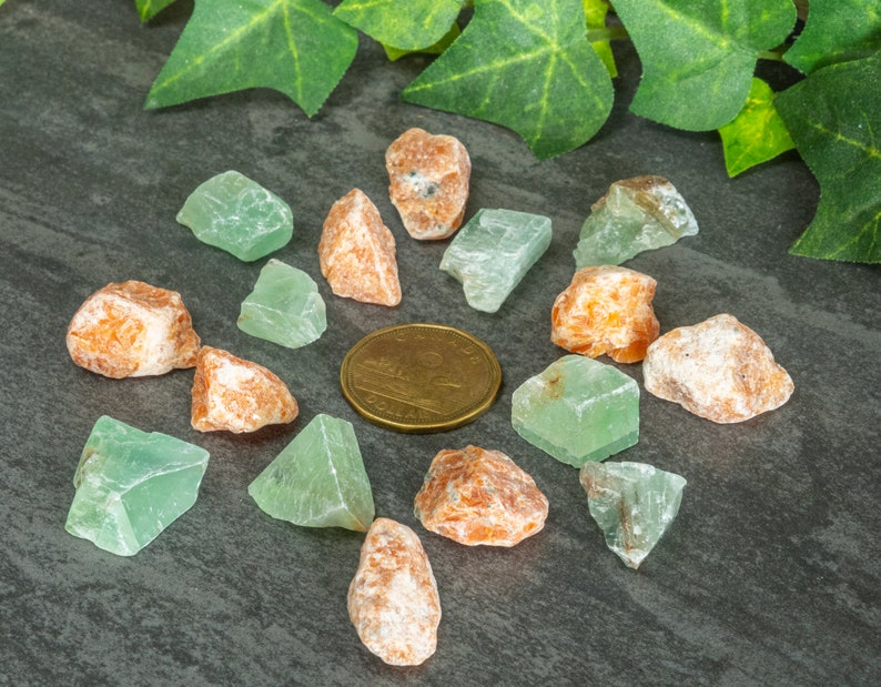 Orange and Green Calcite power couple sets
