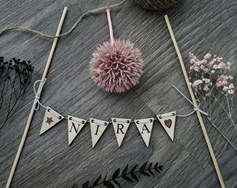 Cake Topper Pennant Necklace Garland Birthday Name