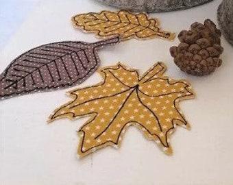 Embroidery file autumn blazer, 3 Blaetter 10x10 autumn,