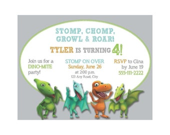 Dinosaur Train Birthday Invitation Party Digital Invite