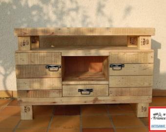 meuble tl 100 bois provenant de palettes