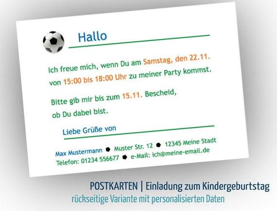 8 Mehr Einladung Zum Kindergeburtstag Fussball