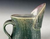 Ceramic Creamer, Green Creamer, Small Pitcher, Tiny Pouring Vessel