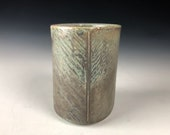 Soda Fired Square Tumbler, Handmade Ceramic Tumbler, Square Cup