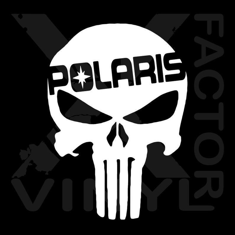 Polaris Rzr Punisher Skull Dicut Vinyl Decal 3 Sizes 14 Colors