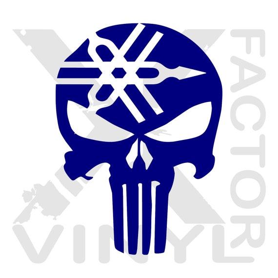Yamaha Punisher Dicut Vinyl Skull Decal 14 Color 3 sizes YZ R1 R6 Raptor  FREE SHIP Dress up your Sidewinder, fjr, phazer, viking, or yz now!