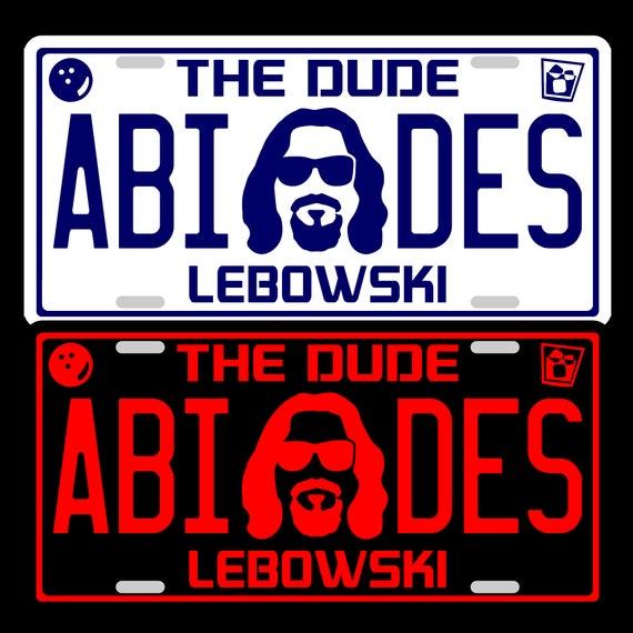 BOWLERS LICENSE ~ FREE SHIP~ THE BIG LEBOWSKI The DUDE