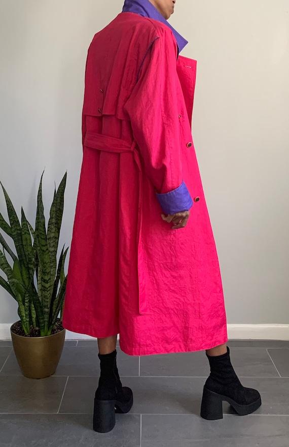 Vintage Pink N' Purple Trench Coat - image 4