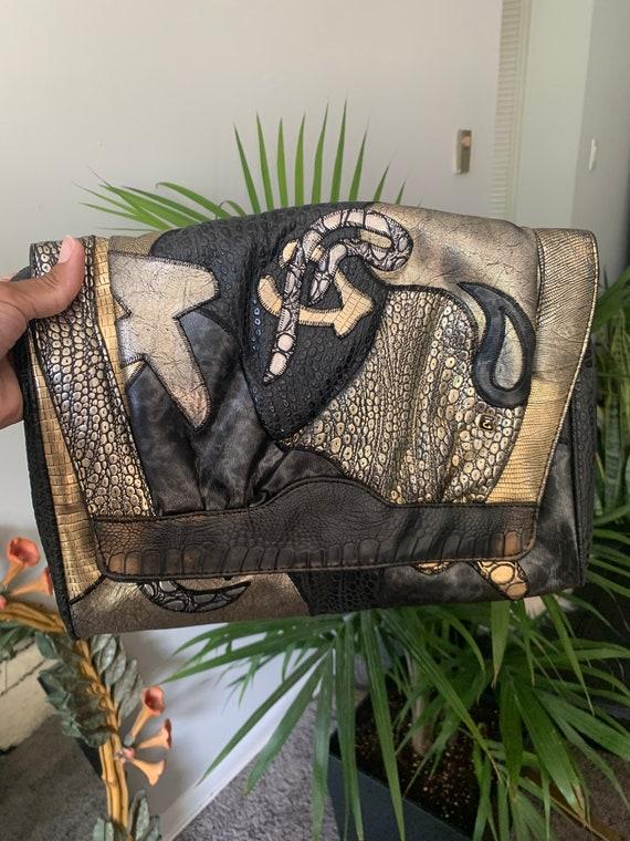 Vintage 1980s Metallic Crossbody Bag