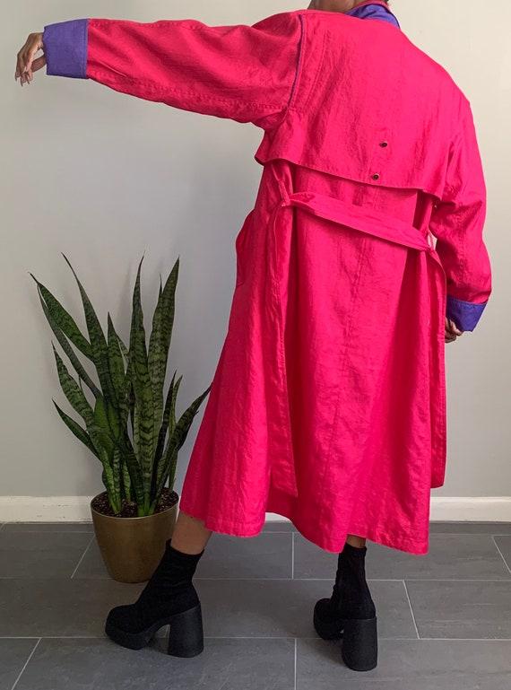 Vintage Pink N' Purple Trench Coat - image 6