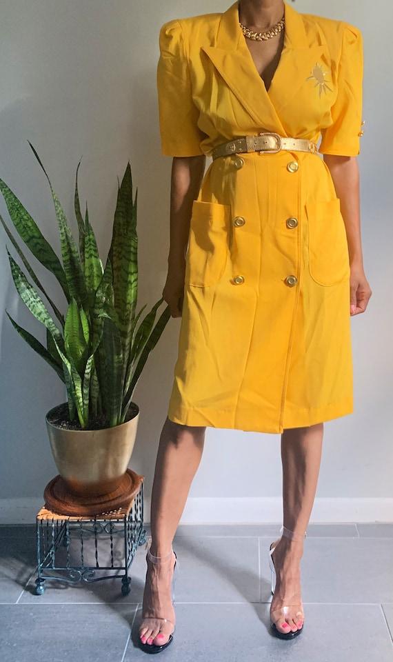 "Vintage ""Here Comes the Sun"" Blazer Dress"
