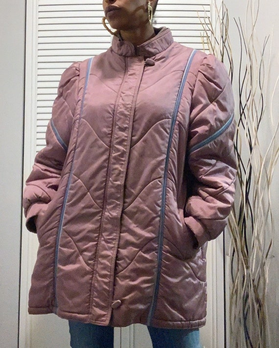 """Vintage 1980s """"Berry Puffer"""" Jacket"""