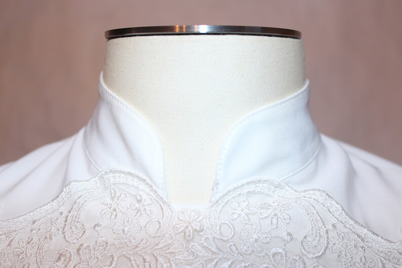 Vintage 1980s Embroidered Career Blouse
