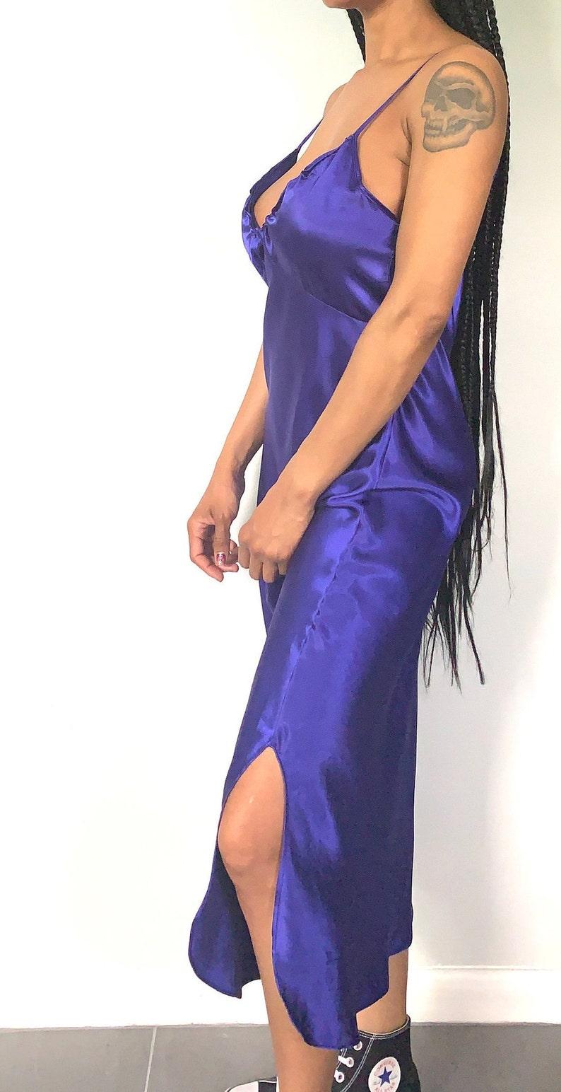 Vintage 80s Grape Soda Slip Dress