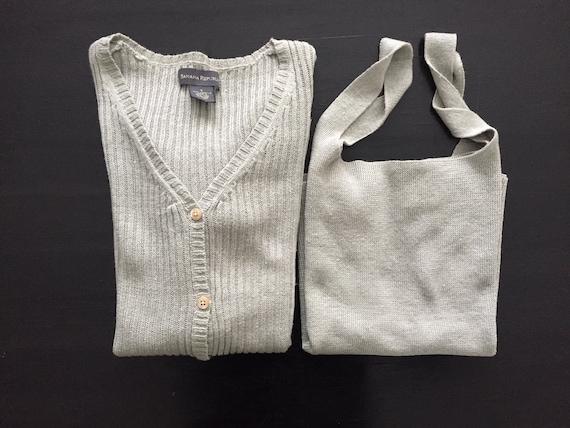 sage linen sweater set