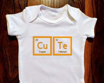 Cute Element Babgrow // Bodysuit 7 Colours Periodic Table // Elements // Gift