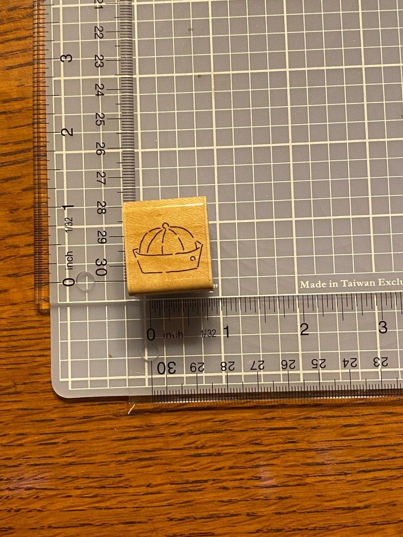 Little boy hat rubber stamp