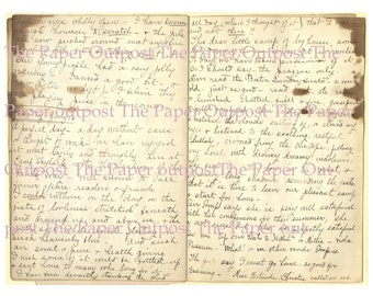Diary Passages Vintage Digital Printable downloadable image digikit digital kit printable digi kit ThePaperOutpost writing the paper outpost