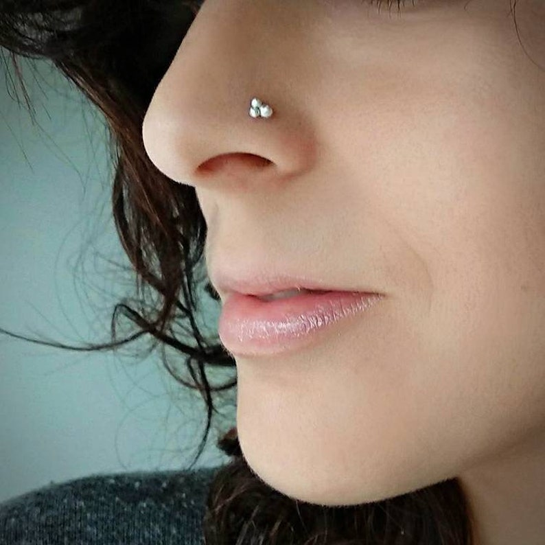 Boho Jewelry Septum pierced nose bohemian septum ring sterling silver jewelry dainty nose ring tribal silver jewelry For pierced nose
