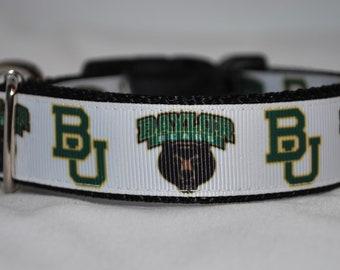 52842c3460b Baylor Bears Dog Collar, Dog Collar, Bears Dog Collar, Baylor Dog Collar,  Baylor, Handmade Dog Collar, Large Dog Collar, Dogs
