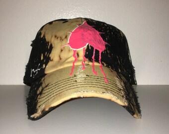 033aaf94ab7 Black Bleached Dad Hat