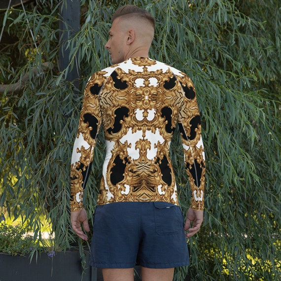 Men's Rash Guard -(fitness shirt gym workout yoga leggings sweatpants sweatshirt sports jacket top tees hoodies sweater swimwear athletic)