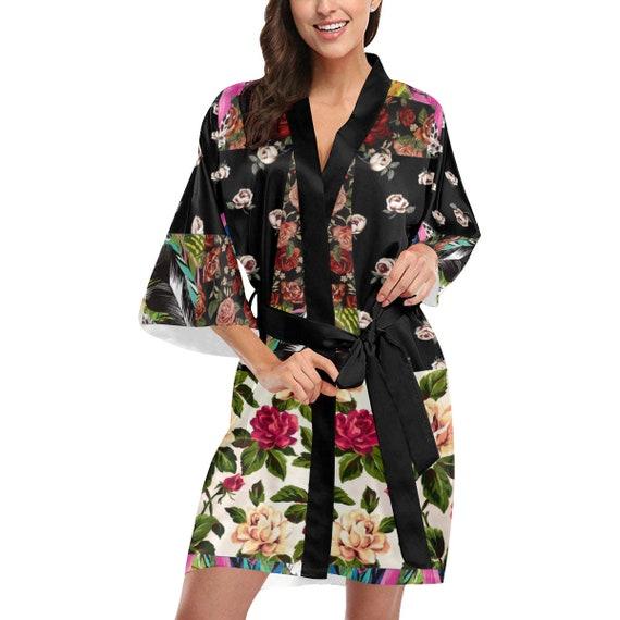 Kimono Dress Robe -(Apron blouson wedding prom Cheongsam flapper Infinity kaftan sari shirtdress skater slip sweaterdress tank tutu wrap)