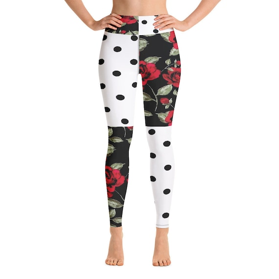 Leggings -(yoga fitness gym workout tights pants sports  vintage for women girls cute athletic soft colorful unique abstract designer rave)
