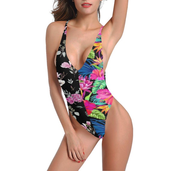 One Piece Swimsuit -(set bikini lace backless micro thong crochet vintage brazilian lingerie bottom push up bathing women girls bodysuit)