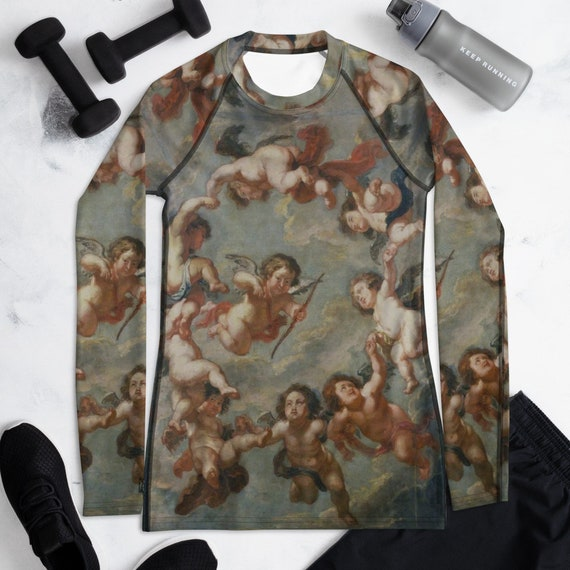 Women's Rash Guard -(shirt yoga leggings swimwear workout clothes swimsuit bikini tights lingerie underwear sweatshirt vintage gym sneakers)