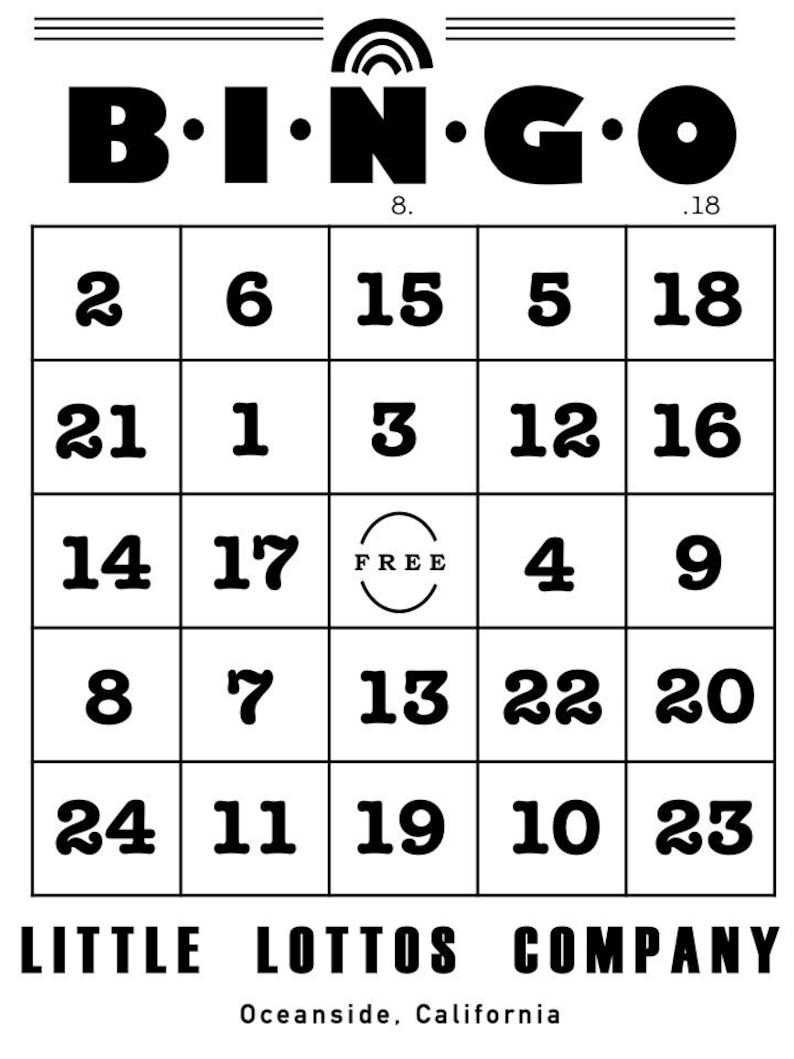 Bingo Cards Numbers 1 25 Etsy