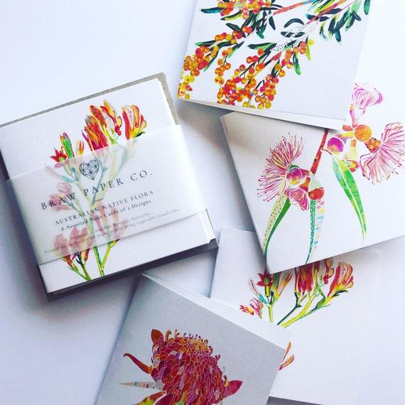 Native Flower A6 Notecard Set of 4
