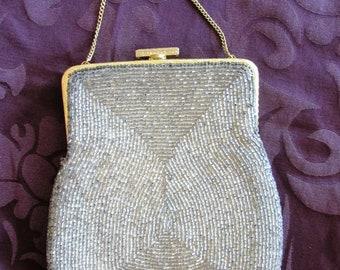 c1741aa6bad8 Czech/Bohemian Beaded Evening Bag, Handbag, Seed Beads Wedding Purse 1950s