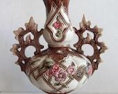 Antique Majolica Vase Amphora Germany 1880s