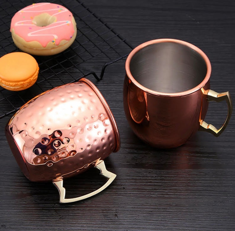 Copper Barrel Mug//Cup for Moscow Mules 18 oz Moscow Mule Gift Set Set of 4