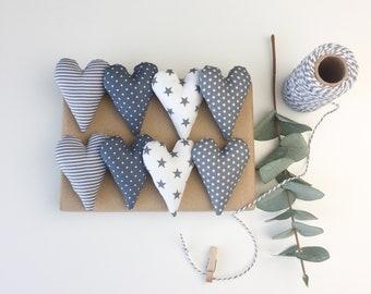 8 hearts grey
