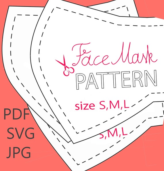 3 D Cloth Face Mask Pattern Digital Wedding Face Mask Pdf Etsy