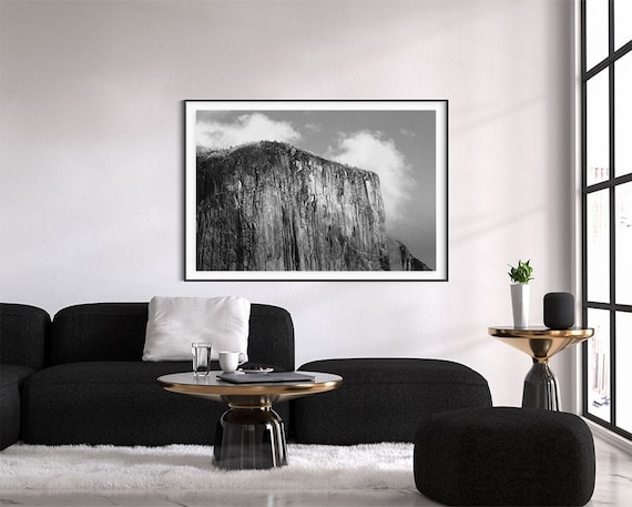 Yosemite National Park Print In Black And White Wall Art El Etsy